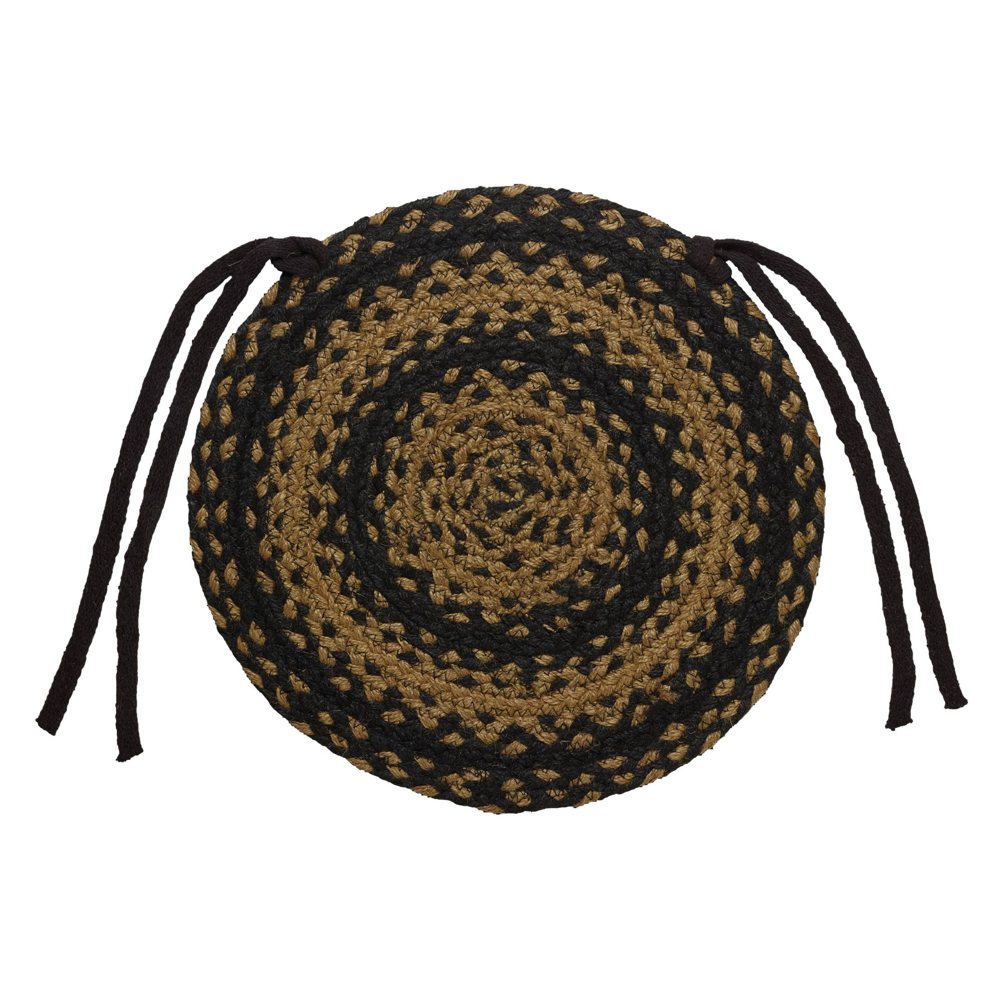 country chair pads sitting braided primitive by ihf set of 4 ebay