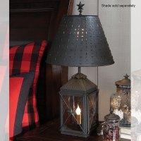Black Metal Table Lamp Lantern Primitive Country Rustic by ...