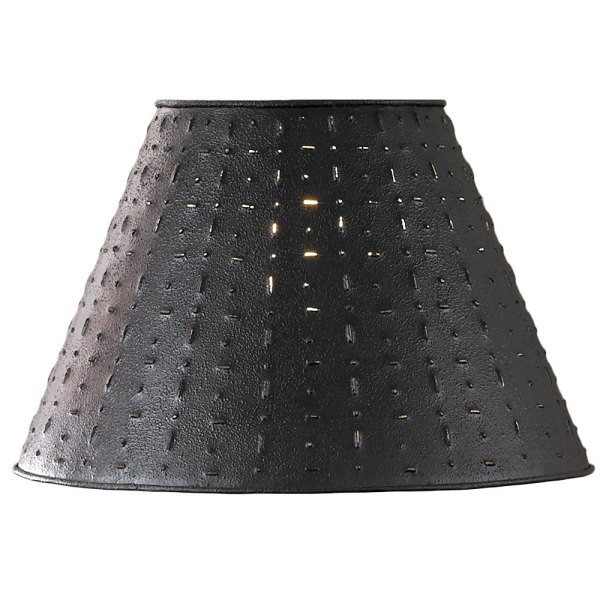 Punched Tin Lamp Shade - Dot Dash Pattern Park Design