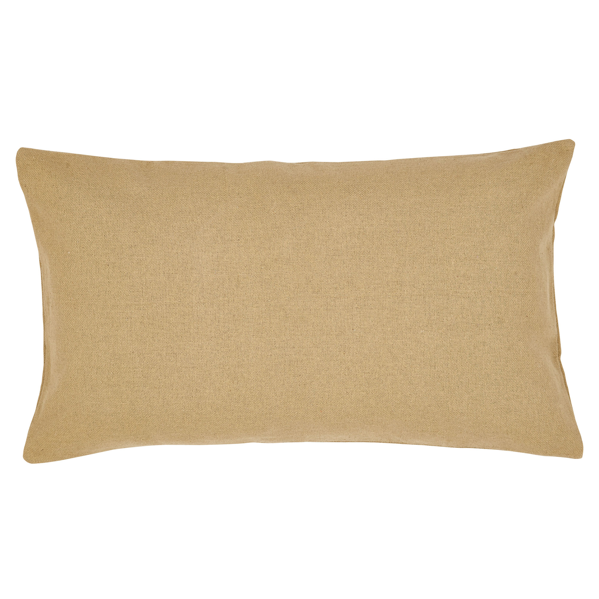 Burlap Solid Country King Queen Pillow Sham