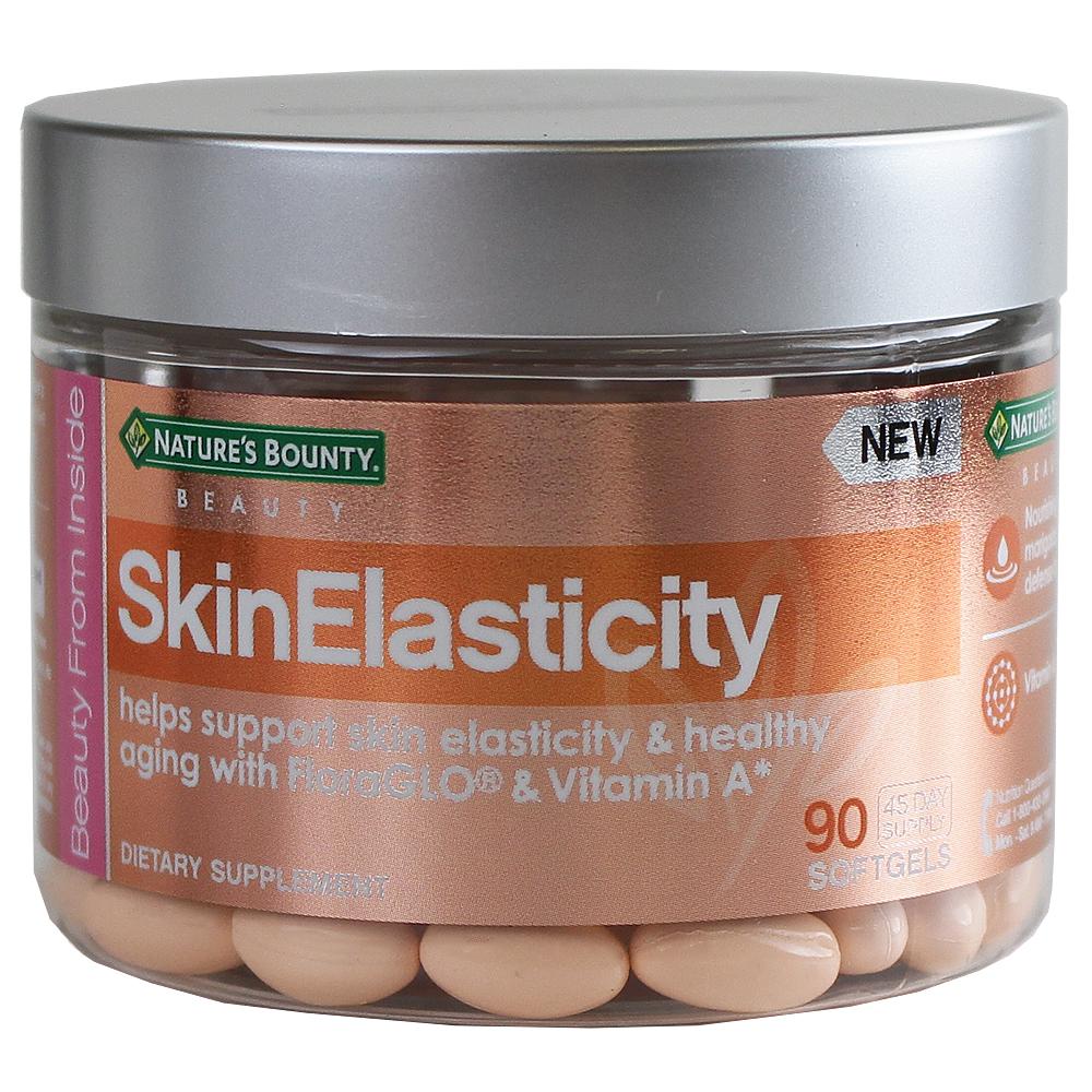 Nature's Bounty Skin Elasticity Soft Gels - 90 Softgels ...