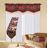 "Holiday Christmas Poinsettia Design 60"" X 15"" Window ..."