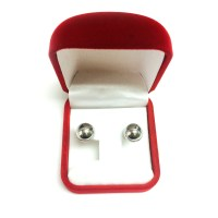 14K White Gold Ball Stud Earrings | eBay