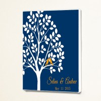 Custom Personalized Wedding Tree Guest Book Wall Decor Art ...