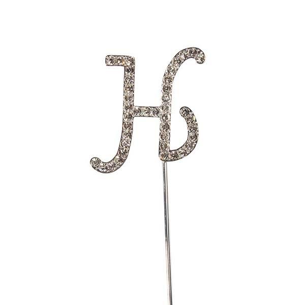 Diamante Cake Topper Alphabet Letters Birthday Anniversary