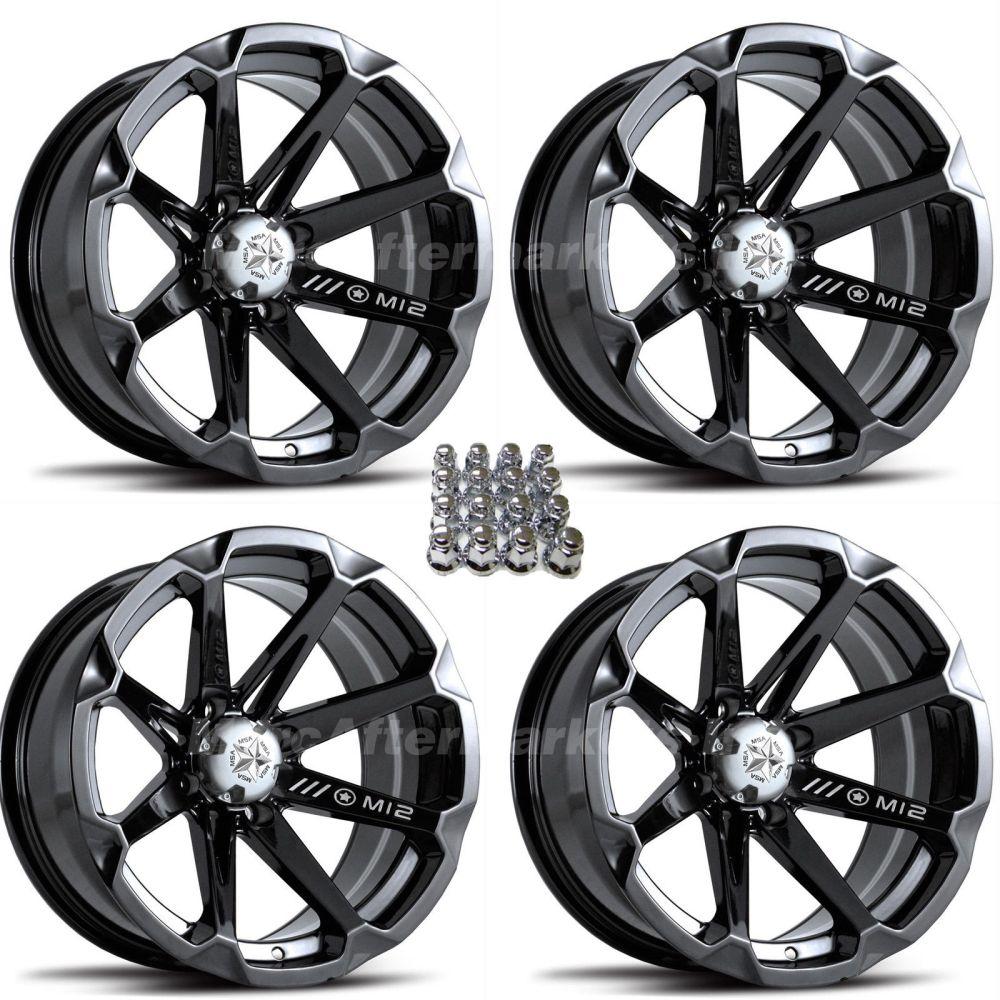 medium resolution of details about msa m12 diesel 14 atv wheels for sportsman xp scrambler 4