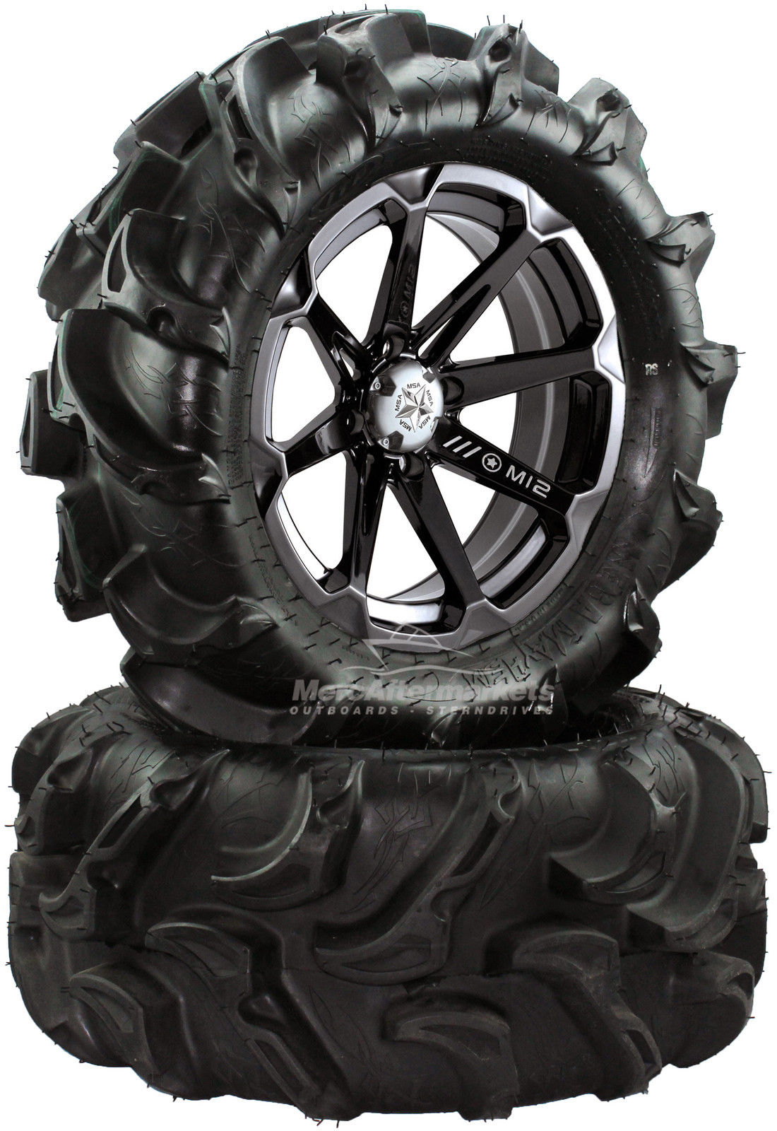 hight resolution of msa diesel 14 atv wheels on 27 mega mayhem tires for sportsman xp scrambler