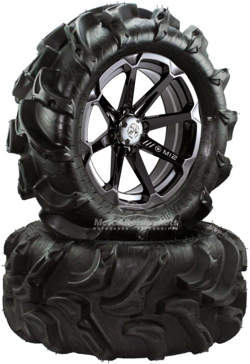 small resolution of msa diesel 14 atv wheels on 27 mega mayhem tires for sportsman xp scrambler