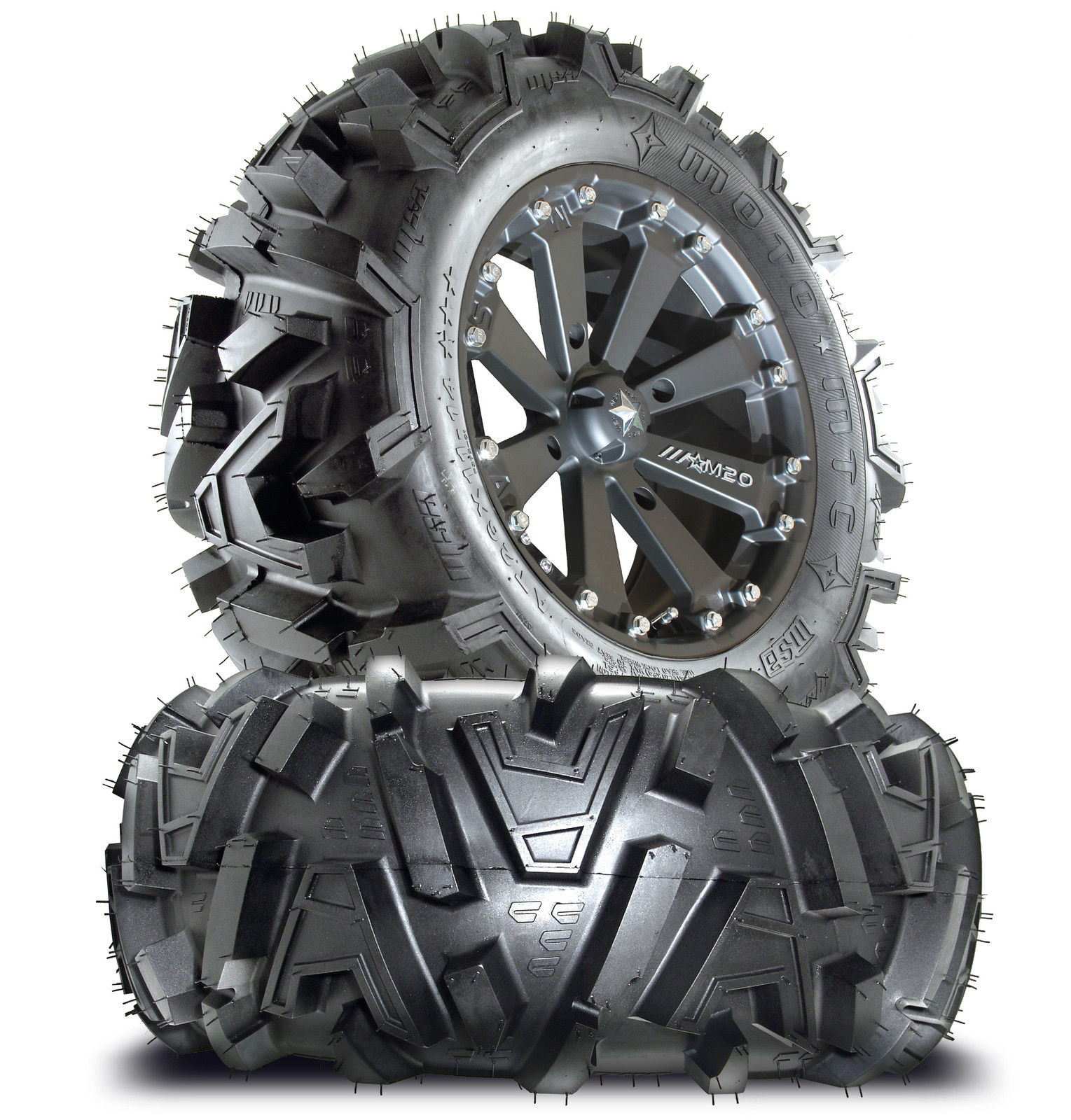 hight resolution of msa m20 kore 16 atv wheels on 30 motomtc tires for sportsman xp scrambler 4