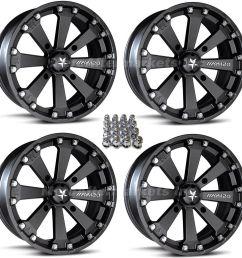 msa m20 kore 14 atv wheels for sportsman xp scrambler 4  [ 1600 x 1600 Pixel ]