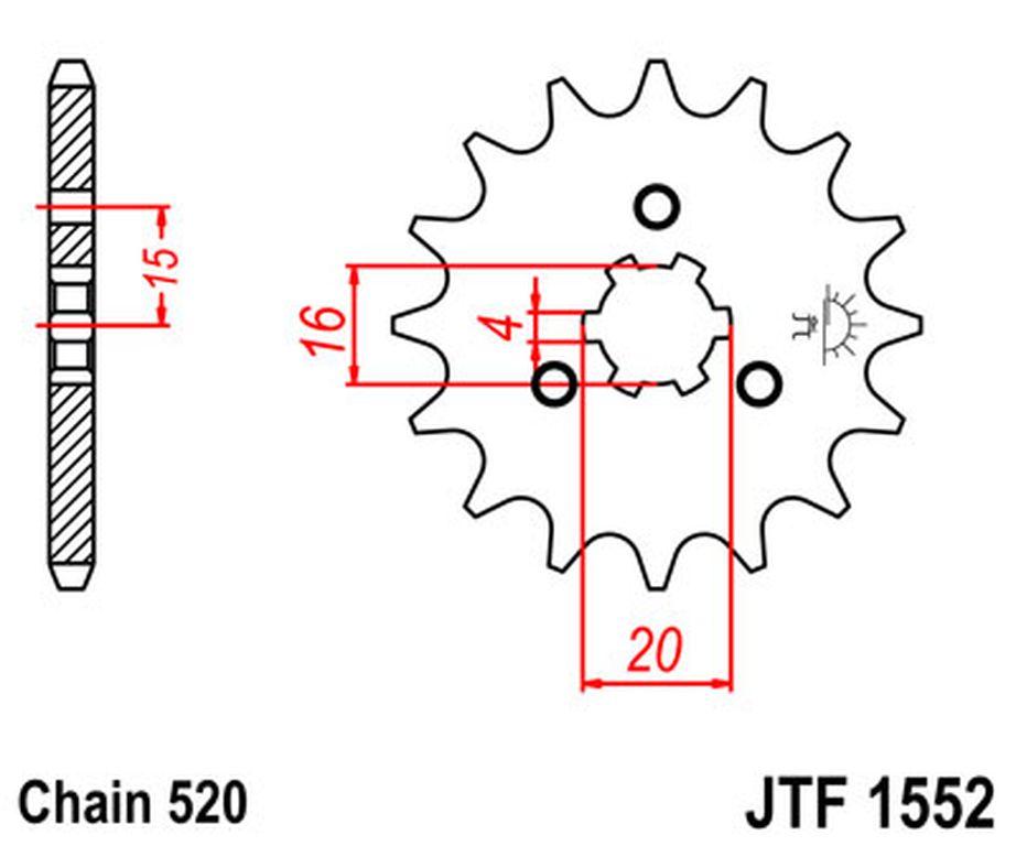 Yamaha YTM200 (Tri Moto) 83-85 JT & RK 520SO 11/42 O-ring