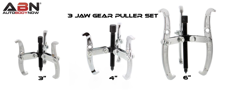 """ABN 3-Jaw Gear Puller Set 3"""" 4"""" 6"""" Inch Slide Gears Pulley"""