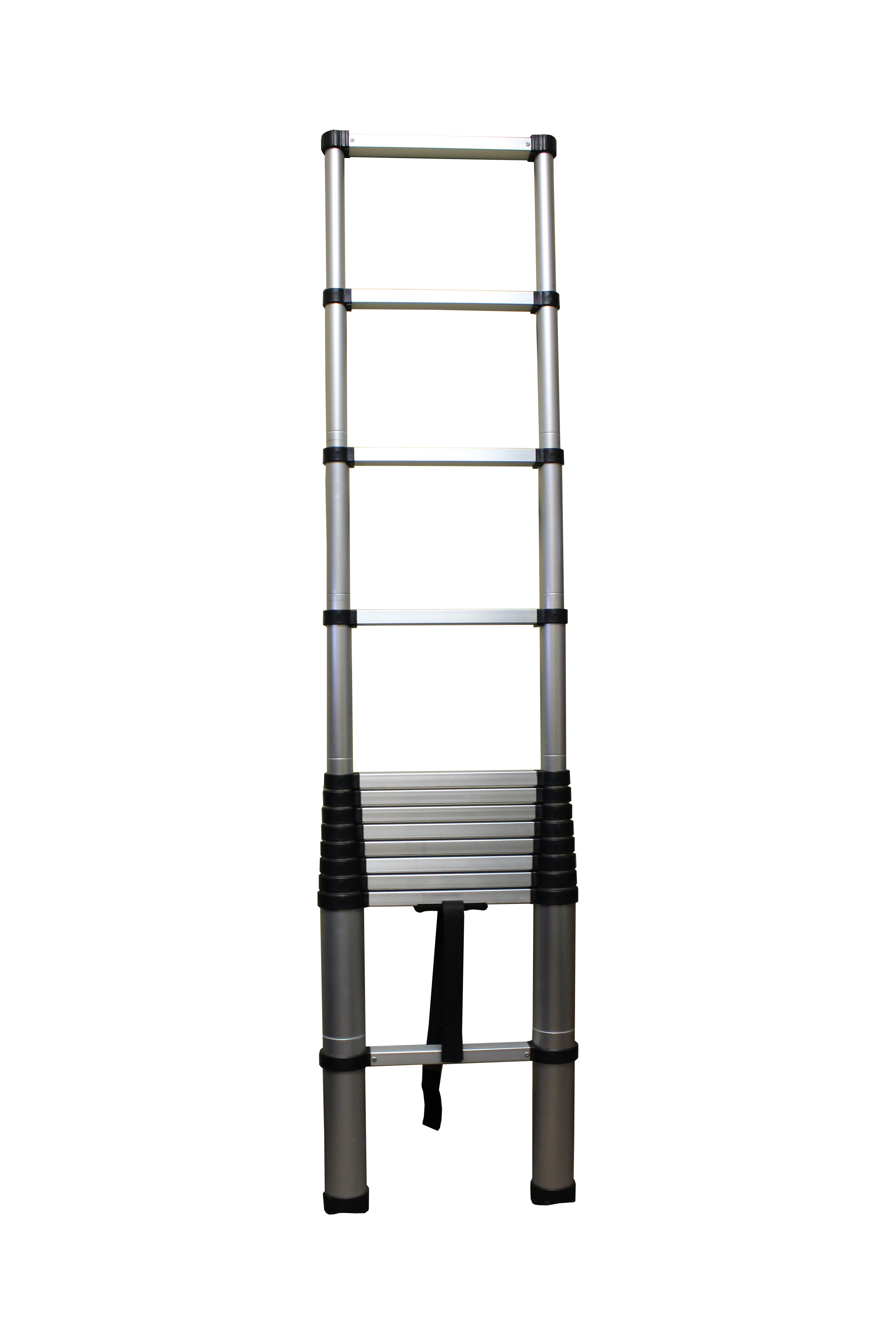 Telescoping Portable Ladder With Safety Locking Steps