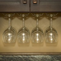 Wine Glass Rack, Under Cabinet Stemware Holder, Holds 6 to