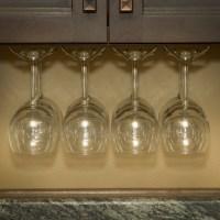Wine Glass Rack, Under Cabinet Stemware Holder, Holds 6 to ...