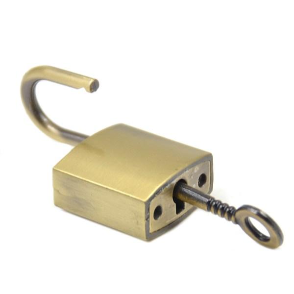 Mini Square Padlock Lock With Key Luggage Bag Suitcase
