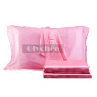 Silky Satin Pillow Cushion Case Cover Protector Solid ...