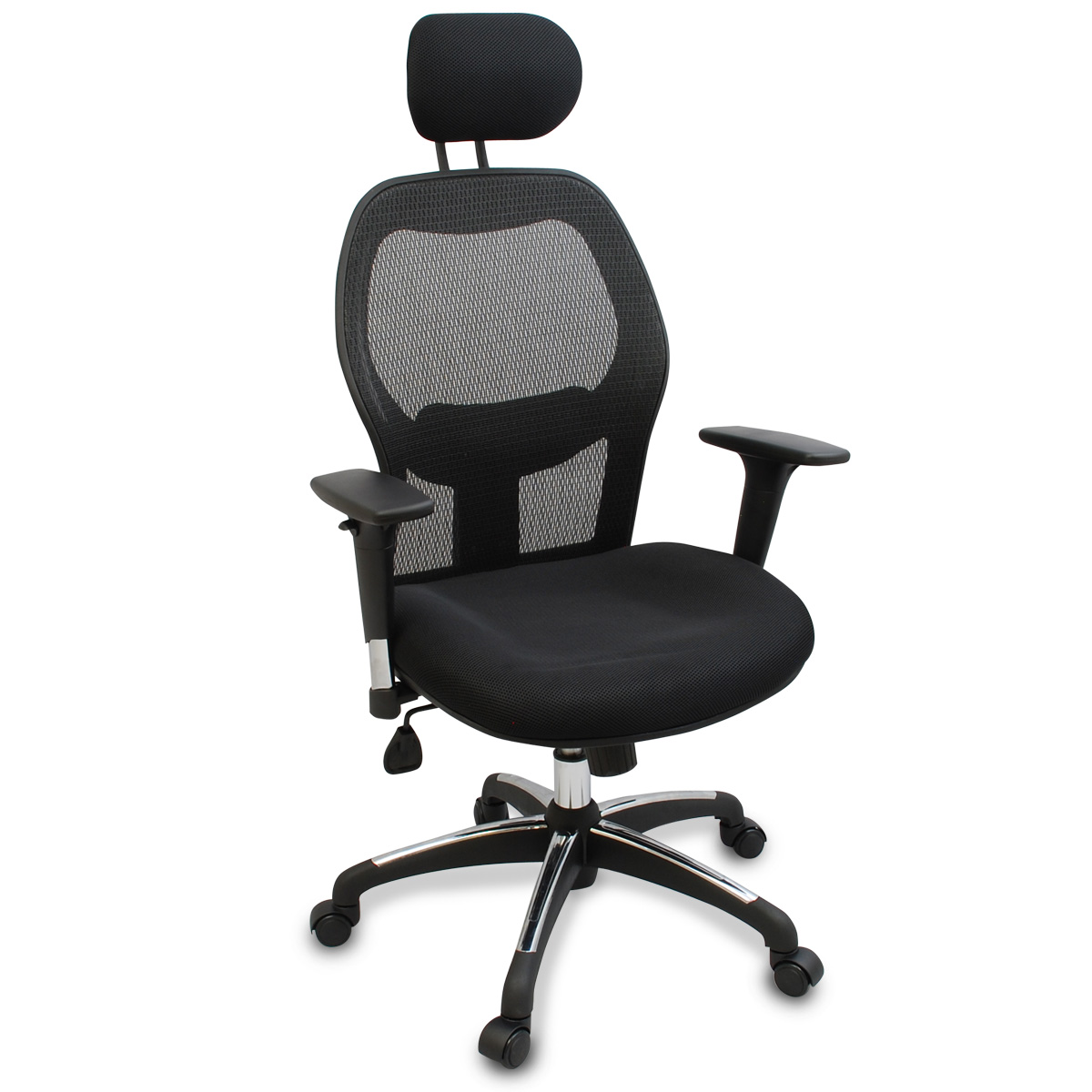 ergonomic chair no armrests hammock stand home depot new mesh reclining office w scuff rubber wheels