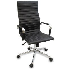 Desk Chair Modern Folding Chairs Outdoor Lowes New Black Ergonomic Ribbed High Back Executive