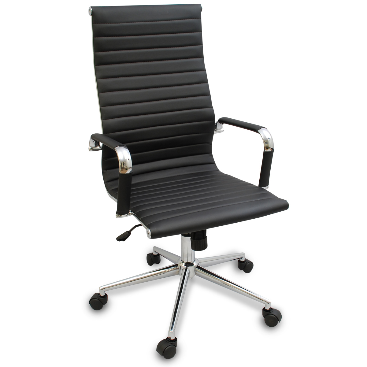 Black Desk Chair New Black Modern Ergonomic Ribbed High Back Executive