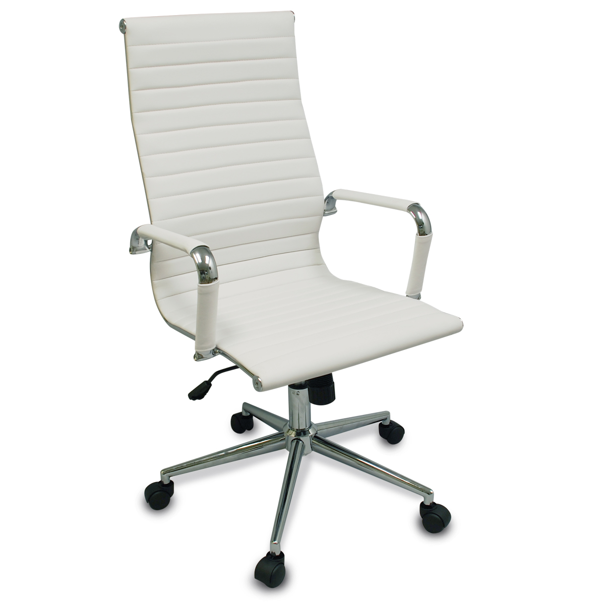 modern white desk chair hanging ebay uk new executive ergonomic conference computer