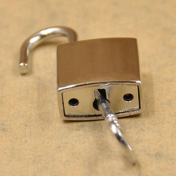 Mini Padlock With Key Gold Silver Black Luggage Suitcase