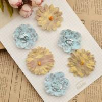 Handmade Colourful Paper Flowers DIY Scrapbooking Album ...