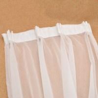 White Window Curtain Gauze Curtain Drape Panel Sheer ...