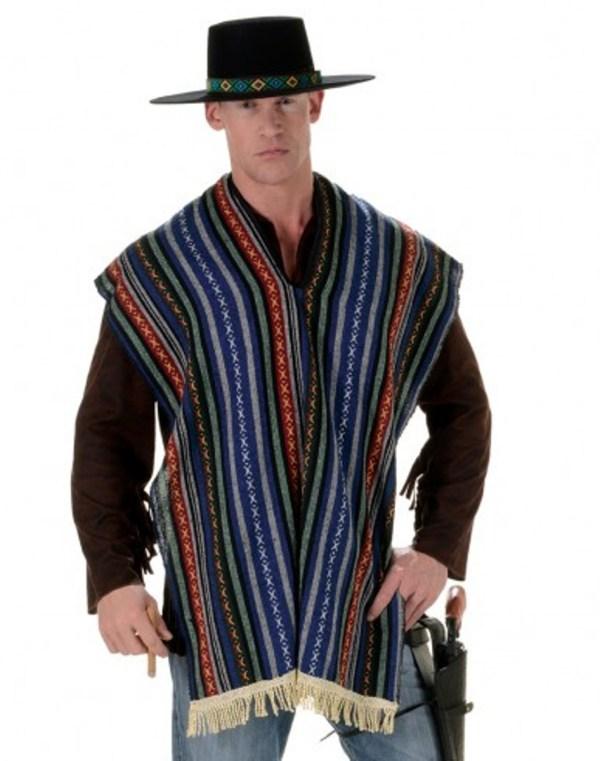 Mexican Bandito Poncho Adult Unisex Serape Shawl
