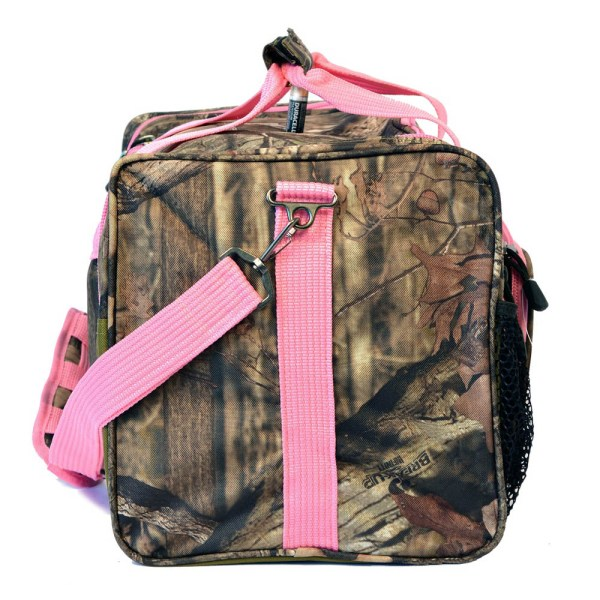 "Women 20"" Pink Mossy Oak Camo Duffel Tactical Bag Shoulder"