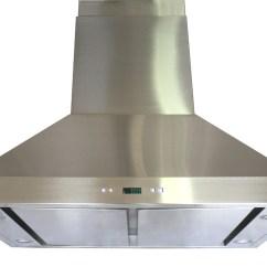 Chinese Kitchen Range Hood Home Depot Sinks Stainless Steel Spagna Vetro Sv198b2 Spi36 36 Quot Island Mount
