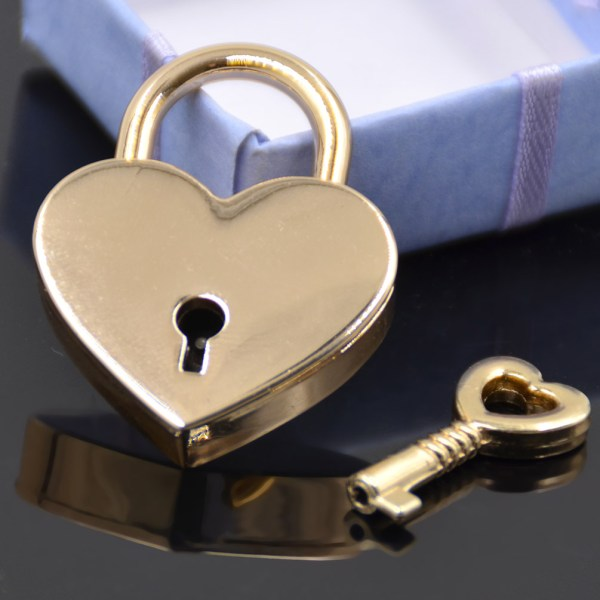 Mini Padlock Heart Shape Luggage Case With Key