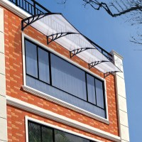190x80cm Front Back Window Door Canopy Outdoor Awning Rain ...