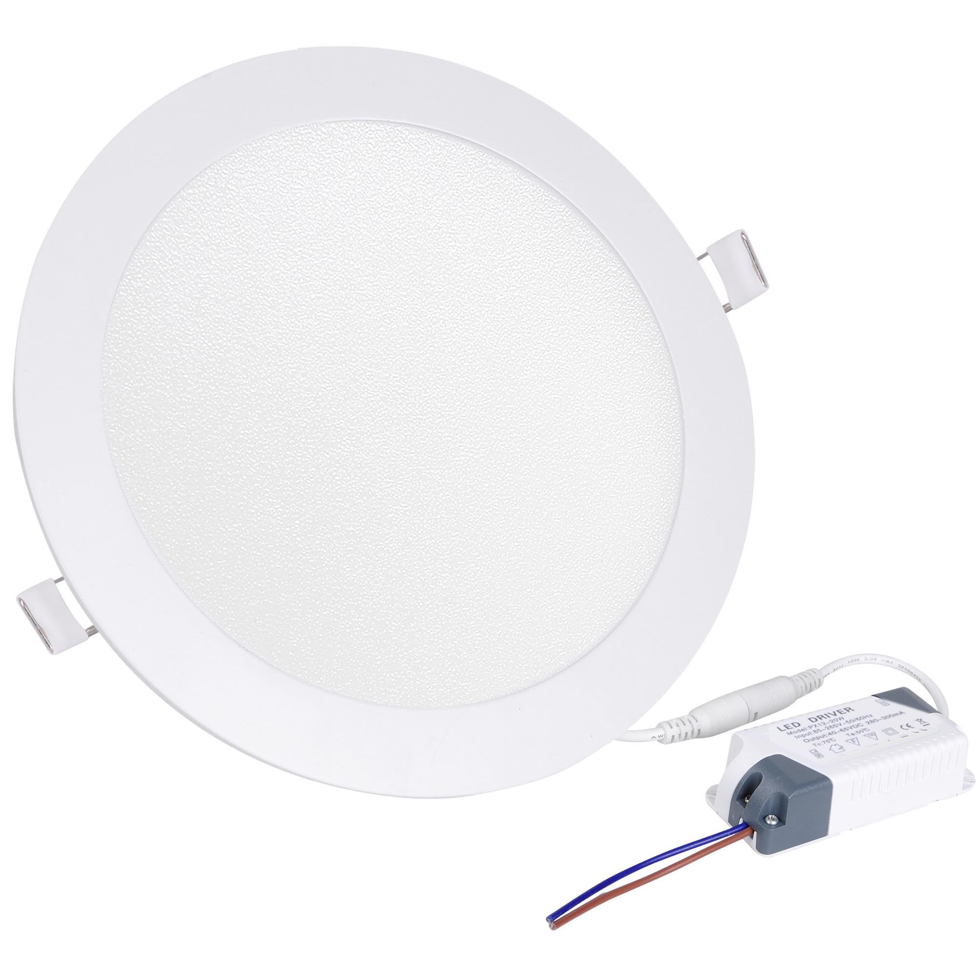 Led Rund 9 12 18w Led Round Recessed Ceiling Flat Panel Down Light