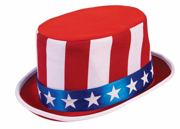 4th Of July Deluxe Top Hat American Flag Glasses Bow Tie