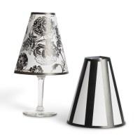 "5"" Wine Glass Lamp Shades Tea Lights Home Wedding Decor ..."