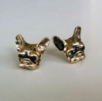 Retro French Bulldog Stud Earrings Frenchie Women's
