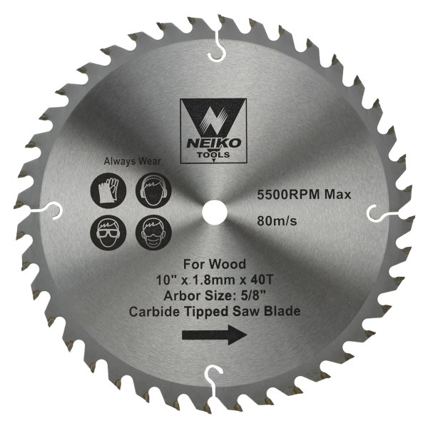 Table Blades Wood Carbide Tipped 10
