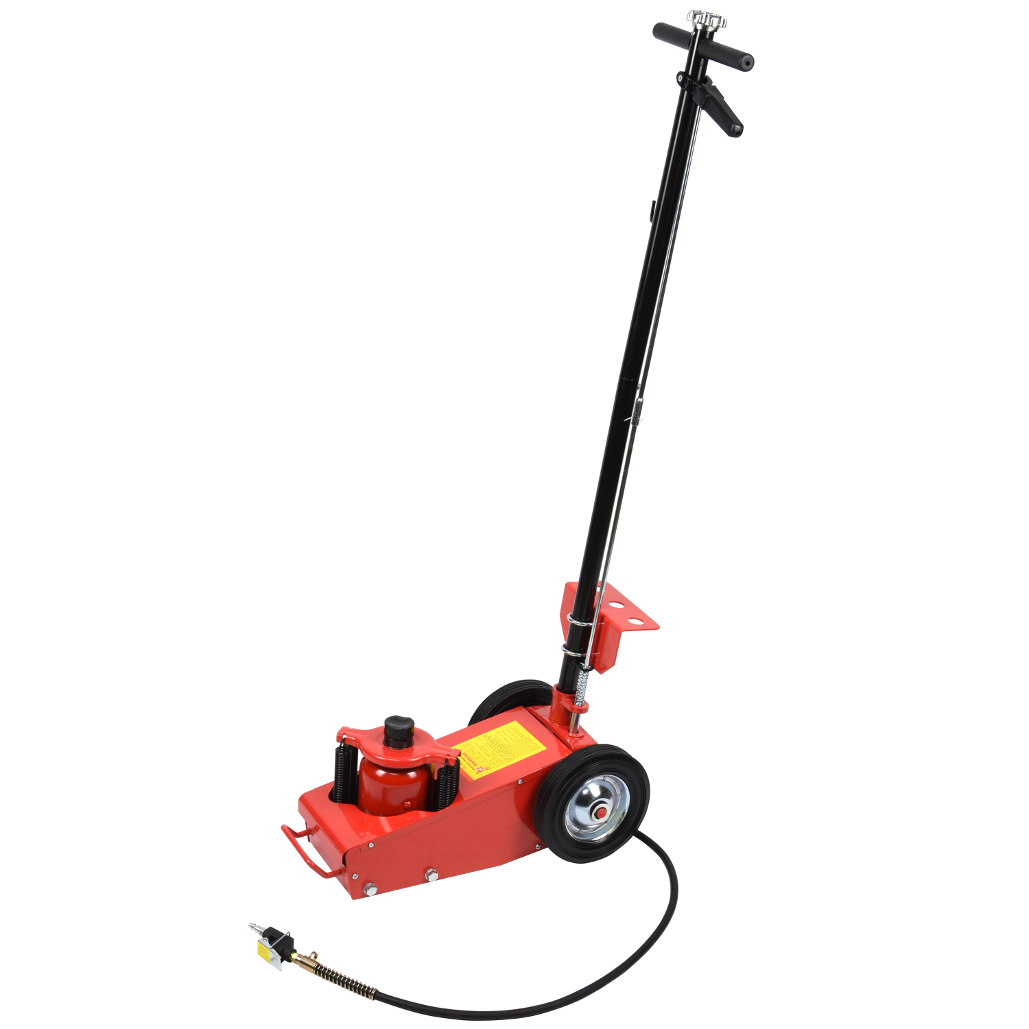 22 Ton Air Hydraulic Floor Jack Lift w Wheel Auto Truck Bus Repair