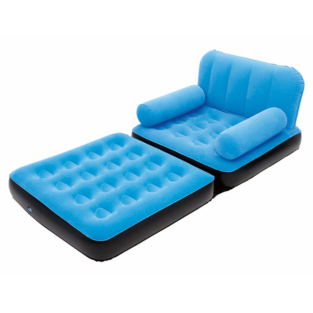 Inflatable Sofa Couch  Full Single Air Bed Daybed Mattress Sleeper Flocked  eBay