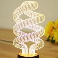 Novelty Unique 3D Illusion Bulb Lamp Night Light USB Table ...