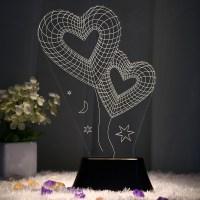 Home Novelty Unique 3D Bulb Lamp LED Night Light USB Table ...