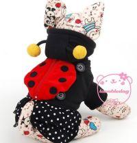 Black red Ladybug Princess dress small Dog Costume Pet Cat ...