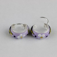 Childrens Kids Girls 925 Sterling Silver Colored Painted ...