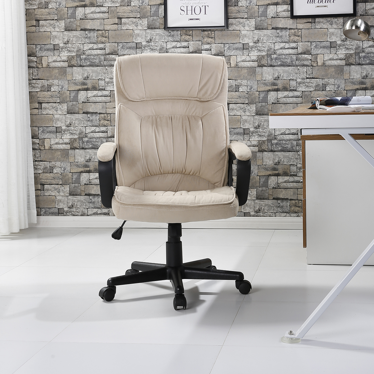 Microfiber Office Chair Executive Chair Office Seat Computer Desk Ergonomic Padded