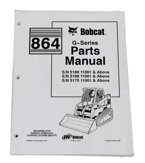 Bobcat 864 G Series Skid Steer Parts Catalog Manual