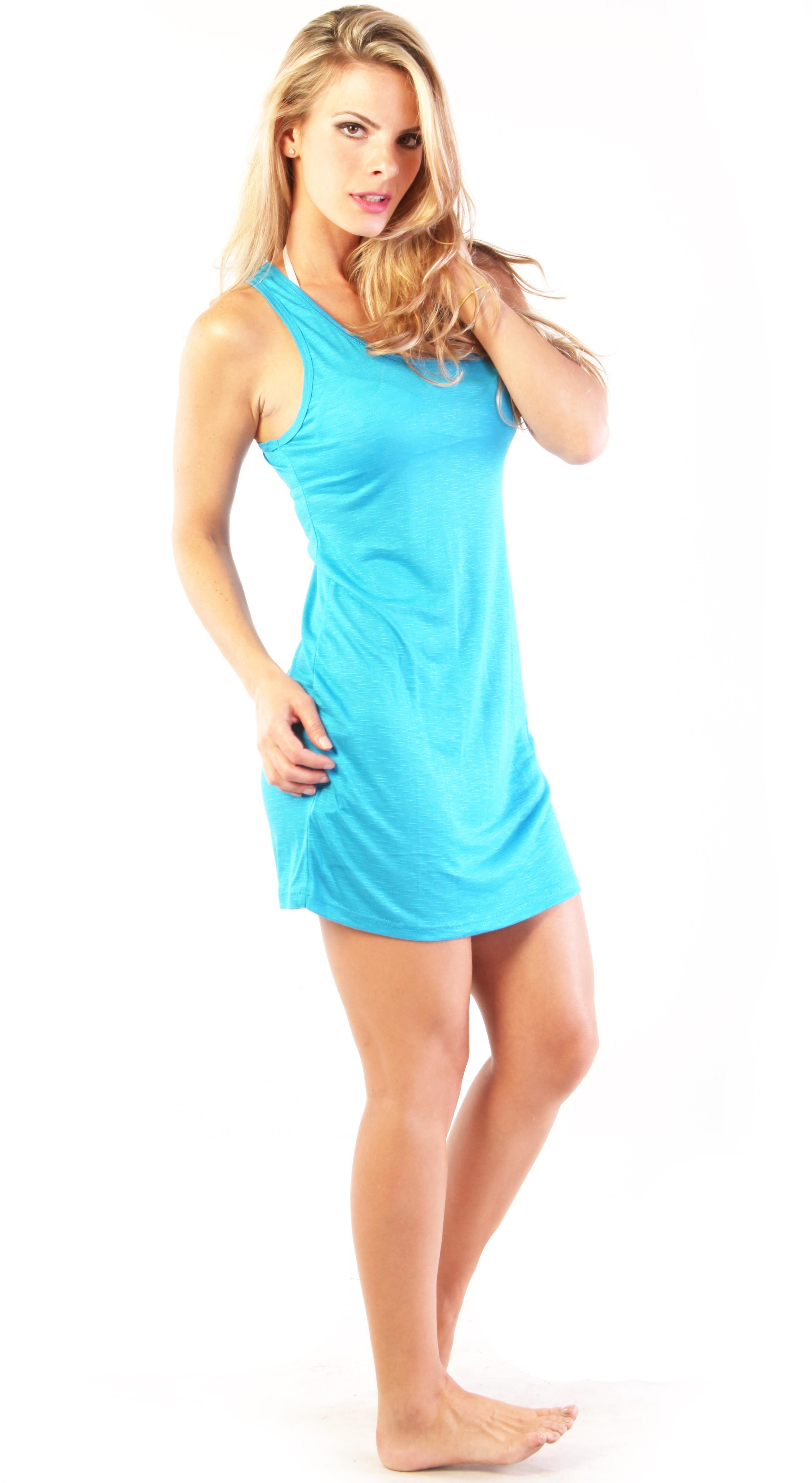 Ingear Racerback Summer Beach Casual Rayon Short Dress
