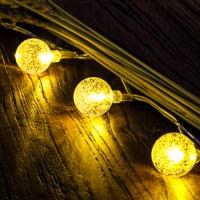50 LED Solar Outdoor String Lights Globe String Fairy