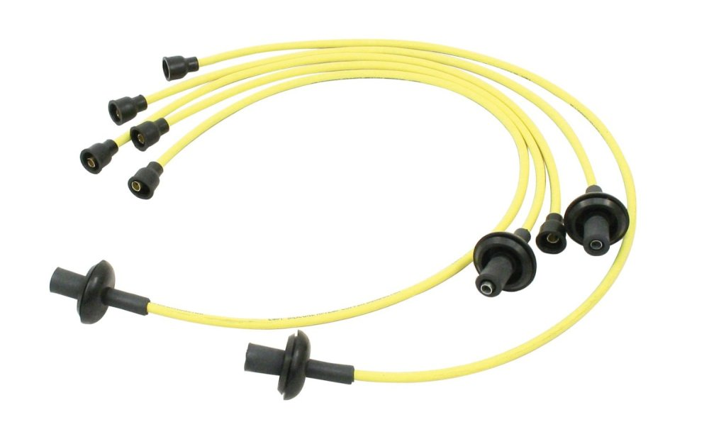 medium resolution of empi 9400 vw bug spark plug wire set silicone 7mm yellow ignition wires