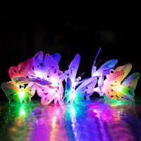 12x New LED Solar Butterfly Colorful String Fairy Lights ...